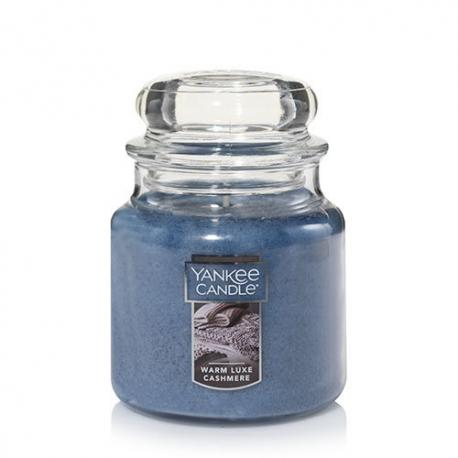 Moyenne Jarre WARM LUXE CASHMERE Yankee Candle exclu US USA