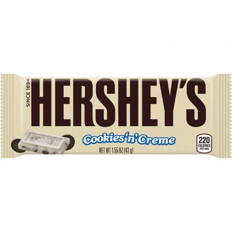Barre de chocolat HERSHEY'S COOKIES N CREME