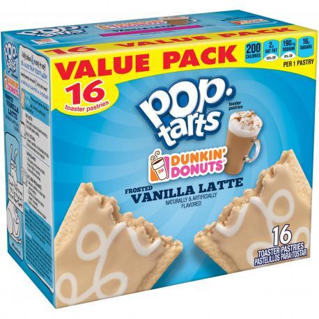 Kellogg's Pop tarts LARGE DUNKIN DONUTS VANILLA LATTE / FROSTED