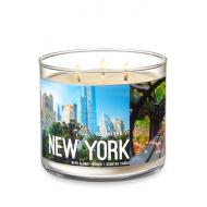 Bougie 3 mèches NEW YORK ROSE WATER AND IVY Bath and Body Works