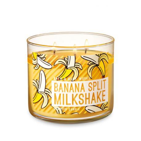 Bougie parfumée 3 mèches BANANA SPLIT MILKSHAKE Bath and Body Works