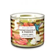 Bougie 3 mèches HONEYSUCKLE AND FREESIA Bath and Body Works