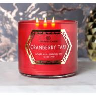 Bougie 3 mèches CRANBERRY TART Colonial Candle
