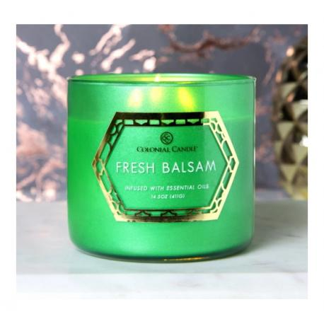 Bougie 3 mèches FRESH BALSAM Colonial Candle