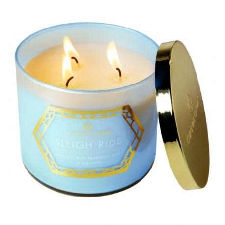 Bougie 3 mèches SLEIGH RIDE Colonial Candle