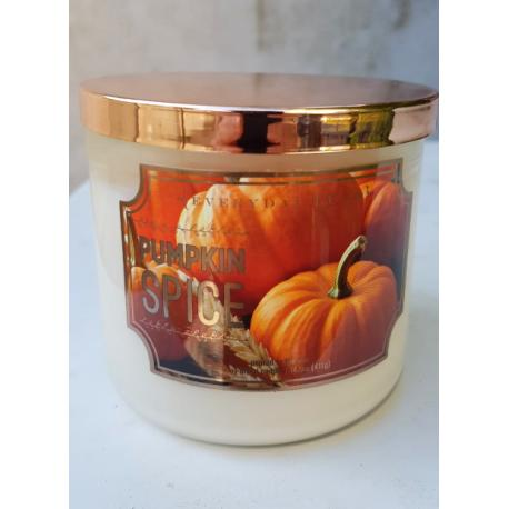 Bougie 3 mèches PUMPKIN SPICE Colonial Candle