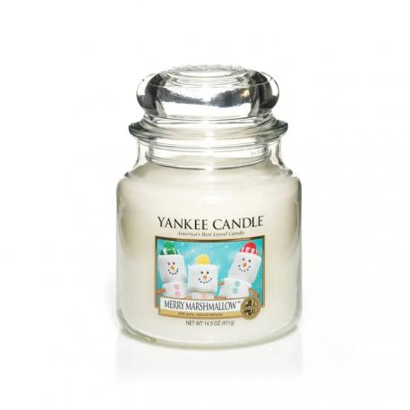 Moyenne Jarre MERRY MARSHMALLOW Yankee Candle