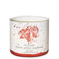 Bougie 3 mèches WHITE APPLE OAKWOOD Bath and Body Works