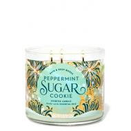 Bougie 3 mèches PEPPERMINT SUGAR COOKIE Bath and Body Works