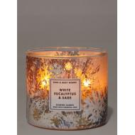Bougie 3 mèches WHITE EUCALYPTUS AND SAGE Bath and Body Works