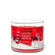 Bougie 3 mèches WINTER CANDY APPLE Bath and Body Works France