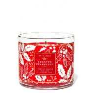 Bougie 3 mèches FROSTED CRANBERRY Bath and Body Works Paris