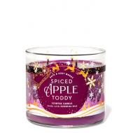 Bougie 3 mèches SPICED APPLE TODDY Bath and Body Works Rome