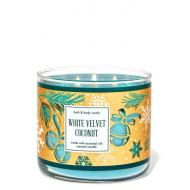 Bougie 3 mèches WHITE VELVET COCONUT Bath and Body Works France