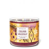 Bougie 3 mèches CINNAMON GINGERSNAP Bath and Body Works France