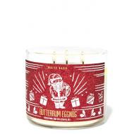 Bougie 3 mèches Bath and Body Works France BUTTERRUM EGGNOG