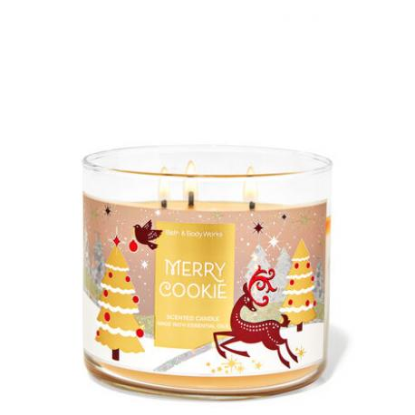Bougie 3 mèches MERRY COOKIE Bath and Body Works France