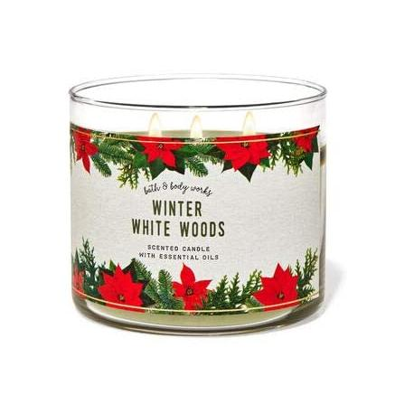 Bougie 3 mèches WINTER WHITE WOODS Bath and Body Works
