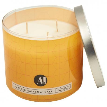 Bougie 3 mèches RAINBOW LAYER CAKE Colonial Candle
