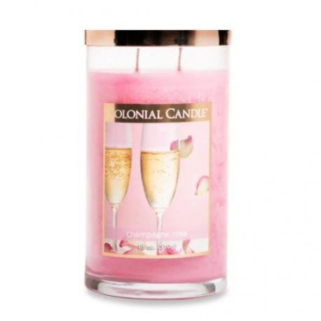 Tumbler 2 mèches CHAMP ROSE Colonial Candle