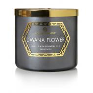 Bougie 3 mèches DAVANA FLOWER Colonial Candle
