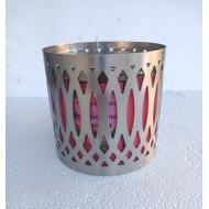 Porte bougie SILVER GEO Colonial Candle