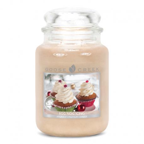 Bougie parfumée Grande Jarre 2 mèches EGG NOG ICING Goose Creek Candle US USA