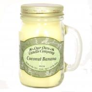 Bougie parfumée Mason Jar COCONUT BANANA Our Own Candle Company US USA