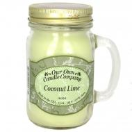 Bougie parfumée Mason Jar COCONUT LIME Our Own Candle Company US USA