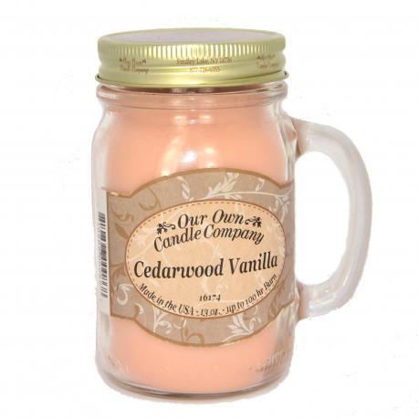 Mason Jar CEDARWOOD VANILLA Our Own Candle Company