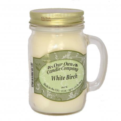 Mason Jar WHITE BIRCH Our Own Candle Company