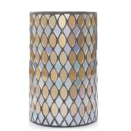 Jar Holder SILVER & GOLD MOSAIC Yankee Candle