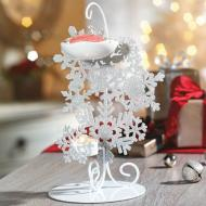 Brûleur de tartelettes WINTER GLIMMER GLITTERING SNOWFLAKES Yankee Candle wax warmer Noël Christmas