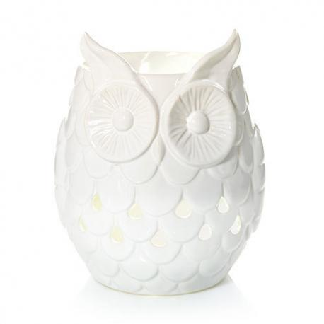 Scenterpiece US WHITE OWL avec LED et Timer Yankee Candle