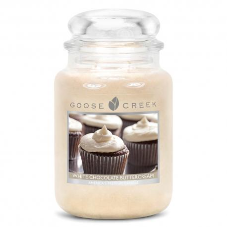 Bougie parfumée Grande Jarre 2 mèches WHITE CHOCOLATE BUTTERCREAM Goose Creek Candle US USA