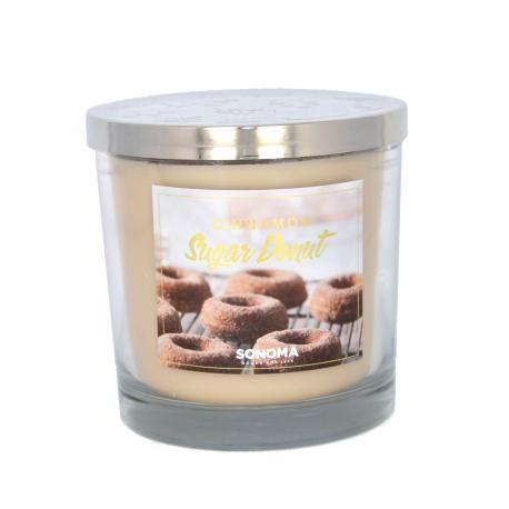 Bougie parfumée 3 mèches CINNAMON SUGARED DONUT Sonoma candle US USA