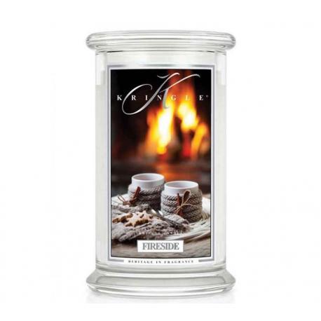 Bougie parfumée Grande Jarre 2 mèches FIRESIDE Kringle Candle US USA