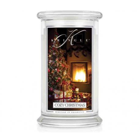 Bougie parfumée Grande Jarre 2 mèches COZY CHRISTMAS Kringle Candle US USA