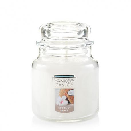 Bougie parfumée Moyenne Jarre COCONUT BEACH Yankee Candle exclu US USA