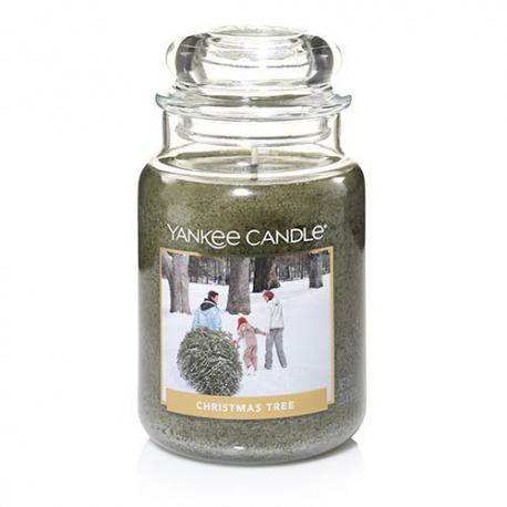 Bougie parfumée Grande Jarre CHRISTMAS TREE Yankee Candle exclu US USA