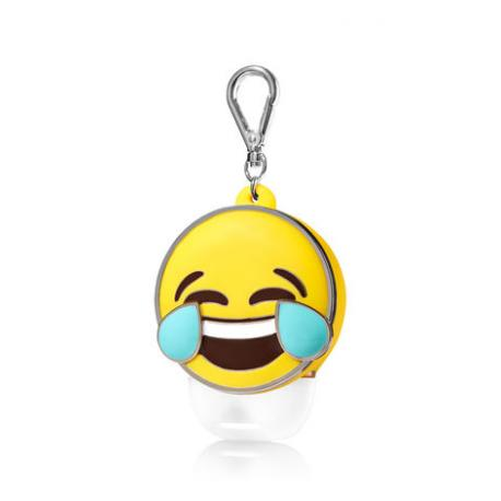 Pocketbac Holder TEARS OF LAUGHTER EMOJI Bath and Body Works porte gel antibactérien Smiley US USA