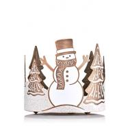 Porte bougie FROSTED SNOWMAN Bath and Body Works piédestal US USA