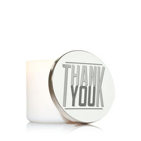 Magnet Lid THANK YOU pour Bougie 3 mèches Bath and Body Works merci