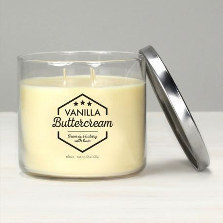 Bougie 3 mèches VANILLA BUTTERCREAM Elixir Candle