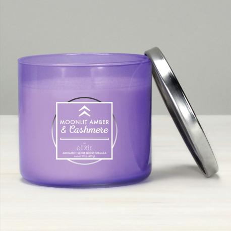Bougie 3 mèches MOONLIT AMBER & CASHMERE Elixir Candle