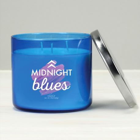 Bougie 3 mèches MIDNIGHT BLUES Elixir Candle
