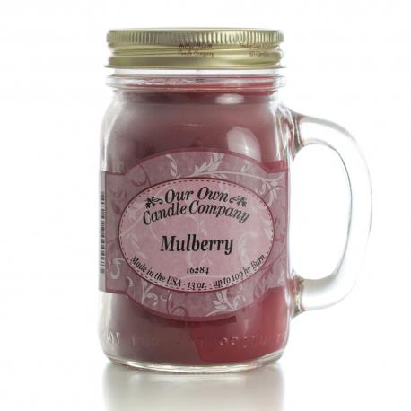 Mason Jar MULBERRY Our Own Candle Company