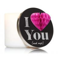 Magnet Lid I LOVE YOU AND NAPS pour Bougie 3 mèches Bath and Body Works
