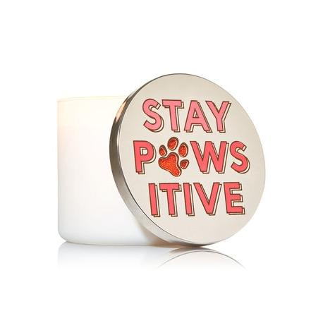 Magnet Lid STAY PAWSITIVE pour Bougie 3 mèches Bath and Body Works