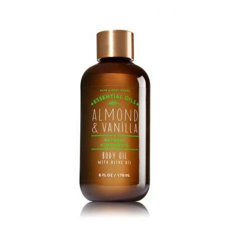 Huile pour le corps ALMOND & VANILLA Bath and Body Works body oil US USA